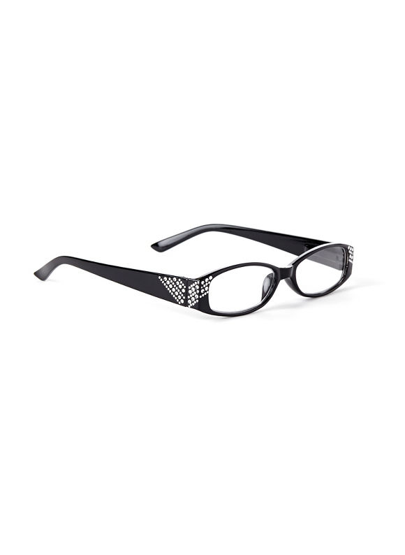 Catherines Around The Corner Reading Glasses, Black, Animal - Catherines ~ Classic Plus Size Clothes