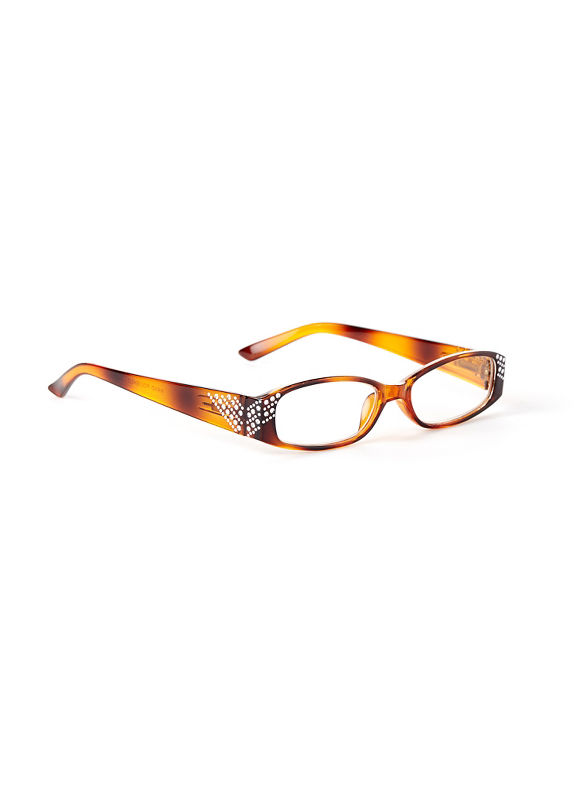 Catherines Around The Corner Reading Glasses, Gold - Catherines ~ Classic Plus Size Clothes