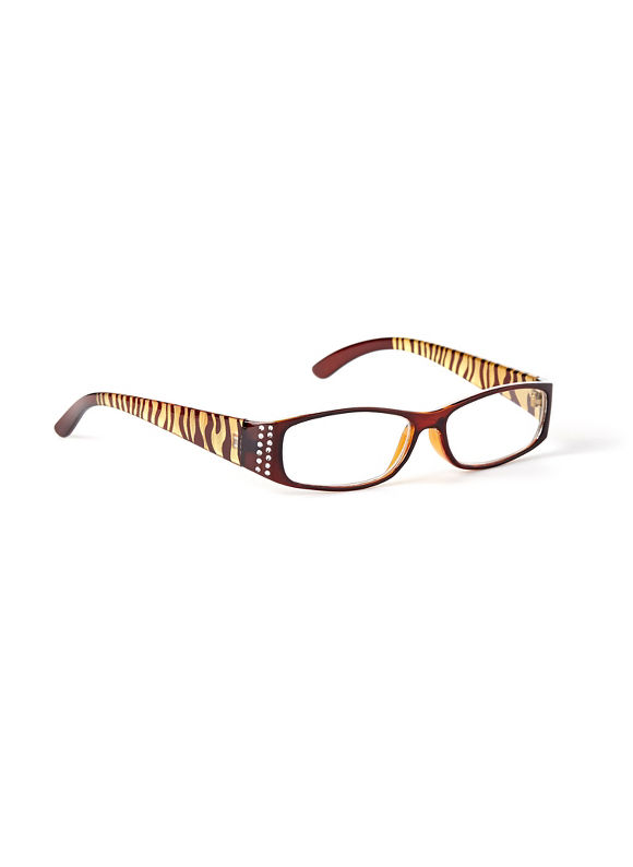 Catherines Positive Persona Reading Glasses, Gold - Catherines ~ Classic Plus Size Clothes