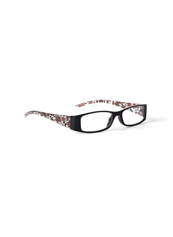 Catherines Animal Kingdom Reading Glasses, Black - Catherines ~ Classic Plus Size Clothes