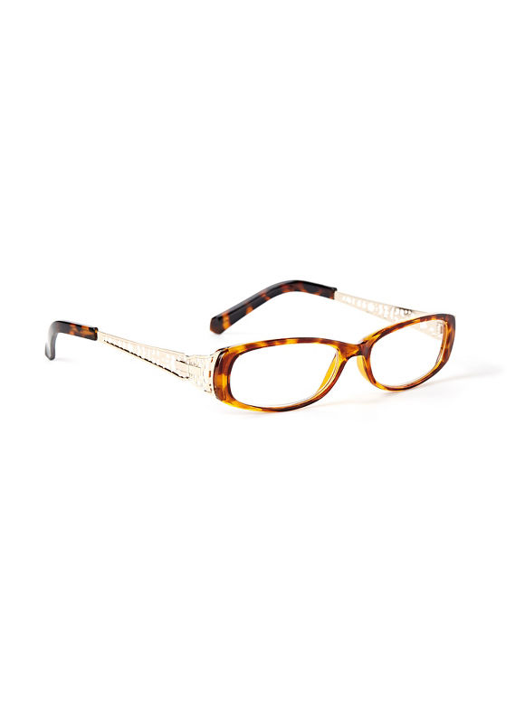 Catherines Bridge The Gap Reading Glasses, Black, Animal - Catherines ~ Classic Plus Size Clothes