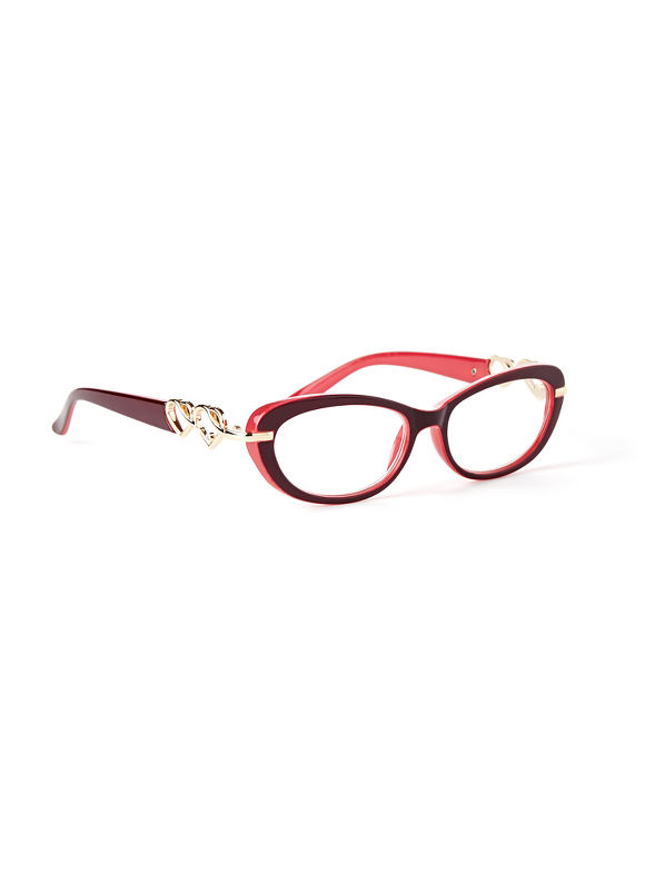 Catherines Heart Reading Glasses, Gold - Catherines ~ Classic Plus Size Clothes
