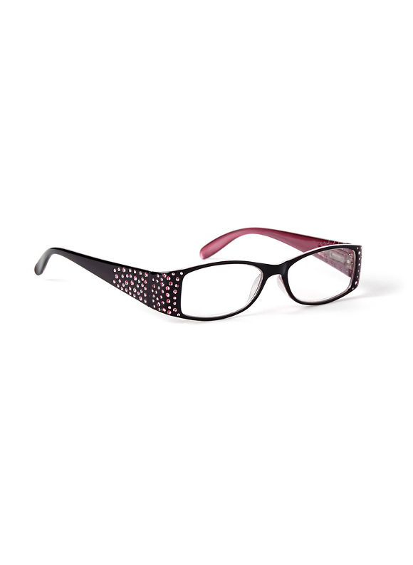 Catherines Dimple Dot Reading Glasses, Black - Catherines ~ Classic Plus Size Clothes