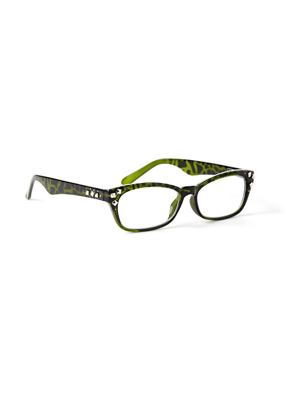 Catherines Camouflage Reading Glasses, Green - Catherines ~ Classic Plus Size Clothes