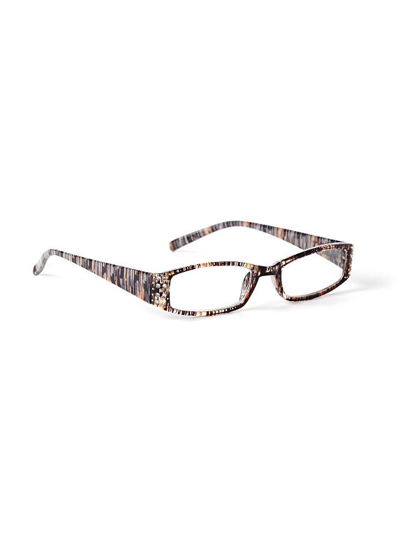 Catherines Terrain Reading Glasses, Tiara Teal - Catherines ~ Classic Plus Size Clothes