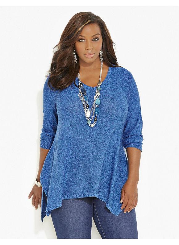 Catherines Plus Size Bennett Pullover, Women's, Size: 2X, Dark Aqua