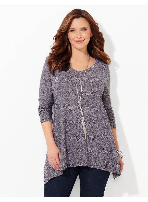 Catherines Plus Size Bennett Pullover, Women's, Size: 0X, Gray