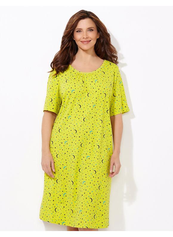Catherines Plus Size Keep Dreaming Sleepshirt - lime