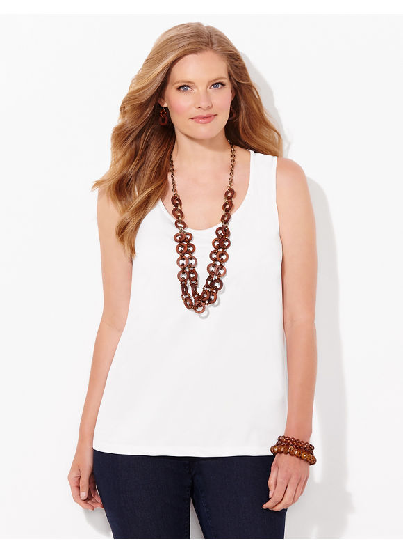Catherines Plus Size Timeless Tank, Orchid