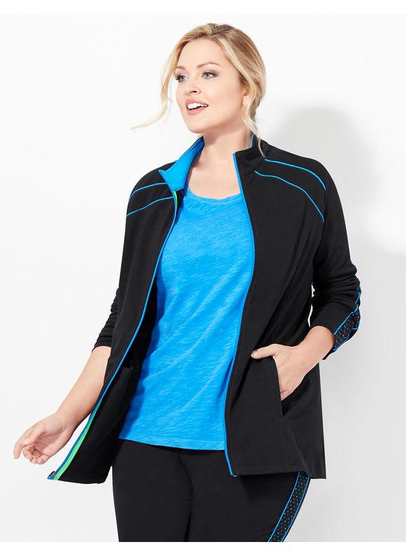 Catherines Plus Size Peace Of Mind Jacket, - Women's, blue