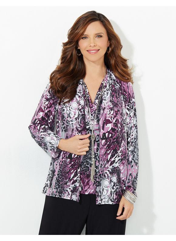 Catherines Plus Size Starlight Shadow Duet, Purple Velvet