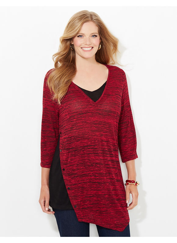Catherines Plus Size Autumn Rich Top, Red