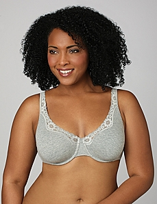 Serenada® Underwire Cotton Comfort Bra by CATHERINES