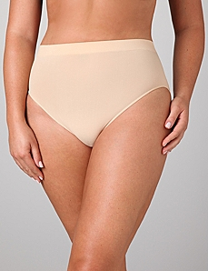 Seamless Cotton Hi-Cut Brief