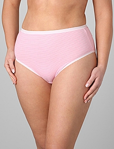 Stripe Hi-Cut Panties by CATHERINES