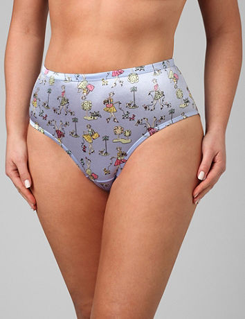 Satin High Cut Panties 28