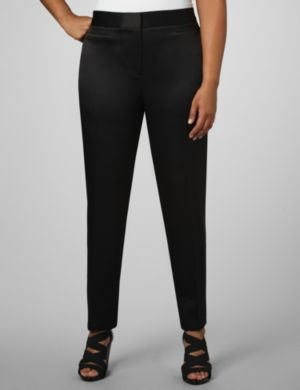 La Scala Twill Ankle Pants