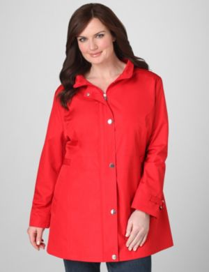 Zip-Front Glossy Jacket