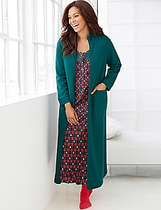 Quilted Zip-Front Robe