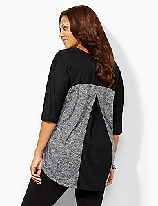 Colorblock Pleat Top