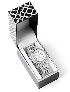 Giftable Silvertone Glamour Watch