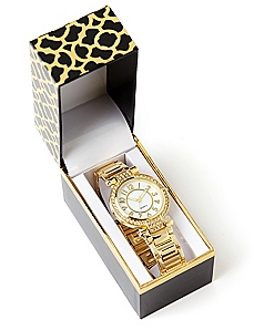 Giftable Goldtone Glamour Watch