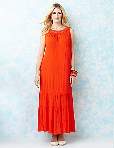 Gauze Crochet Maxi by CATHERINES
