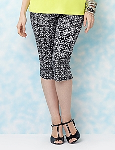 Tile Print Capri by CATHERINES