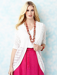 Open Stitch Cardigan by CATHERINES