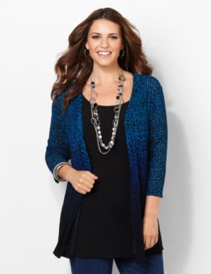 Spotted Cascade Cardigan