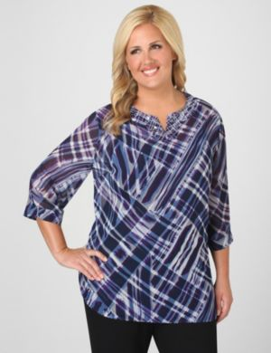 Plaid Impressionism Tunic