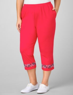 Folklore Embroidered Capri