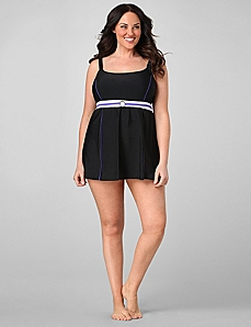 Streamlined Buckled Swimdress by CATHERINES