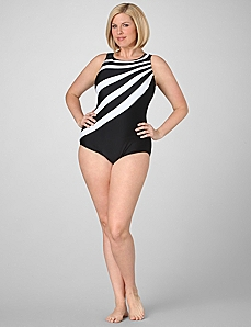 Eternity Striped Swimsuit by CATHERINES