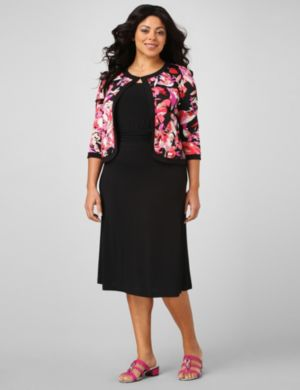 Floral Splash Jacket Dress