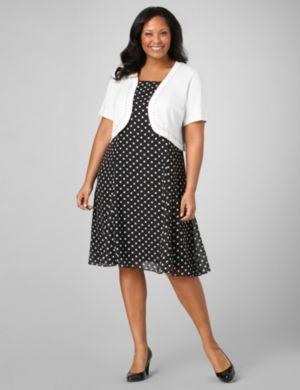 Dotted Dress & Shrug