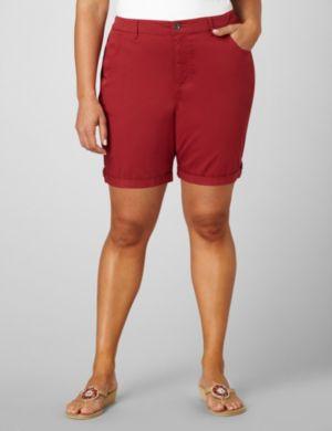 Tabbed Bermuda Shorts