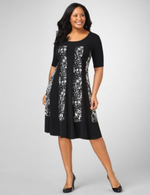 Animal Paneled Dress