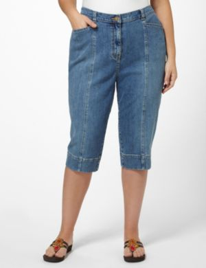 Right Fit™ Denim Capri