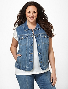 Denim Vest by By Catherines®