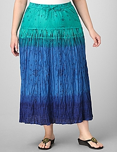 Tri-Tone Ombre Skirt by By Catherines®