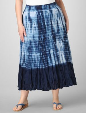 Tiered Dyed Skirt