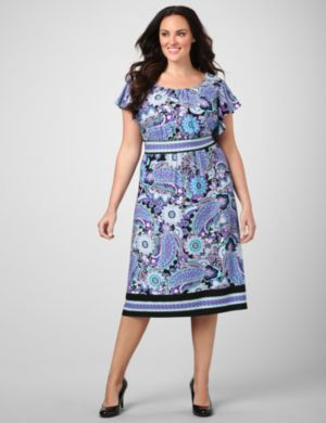 Paisley Panel Dress