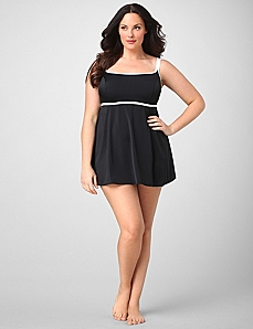 Highlight Solid Swimdress by CATHERINES