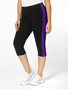 Side Stripe Capris by A BIG ATTITUDE