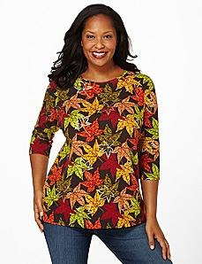 Autumn Leaves Top by Catherines