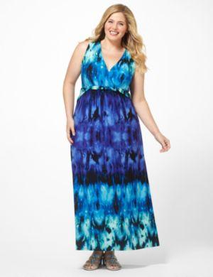 Tie-Dye Twist Dress