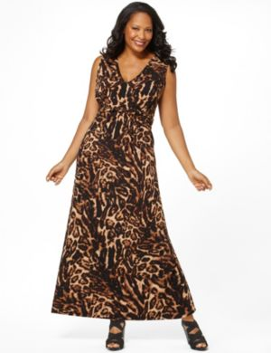 Animal Twist Maxi Dress