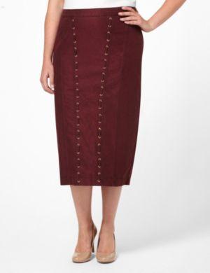 Denim Shimmer Skirt