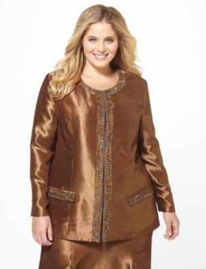 Silky Jeweled Jacket